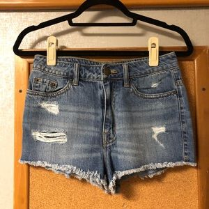 Distressed BDG Urban Outfitters Ripped Jena Shorts